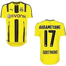 Puma - Camiseta del BVB Borussia Dortmund (primera equipación, temporada 2016/2017), diseño de Aubameyang con número 17, 164