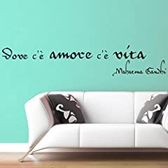 Idea Regalo - Adesiviamo 491-M Mahatma Gandhi Dovè Vita cèš Amore Adesivo da Parete Vinyl Wall Stickers Decals