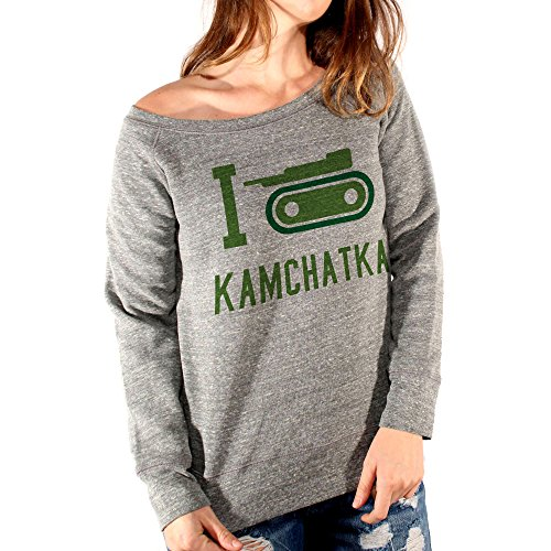MUSH Felpa Fashion I Love Kamchatka - Risiko - Games by Dress Your Style Grgio Triblend