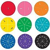 Learning Resources Cercles de Fractions Aimantés Recto-Verso