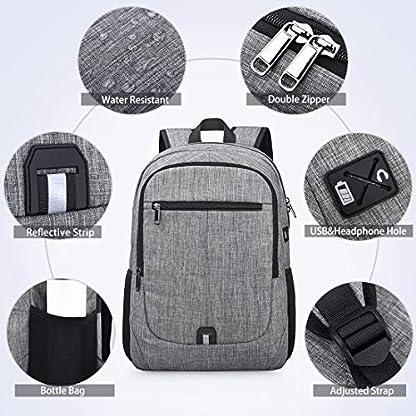 51Xrtlg6EDL. SS416  - NUBILY Mochila Portatil Hombre 15,6 Pulgadas Impermeable Multifuncional USB Mochila para Estudiantes Ordenador Viaje Negocio