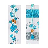 #7: SG BOOKMARKS BLUE ROSES MOUNT BOARD Bookmark (BLUE ROSES, Multi-colour)