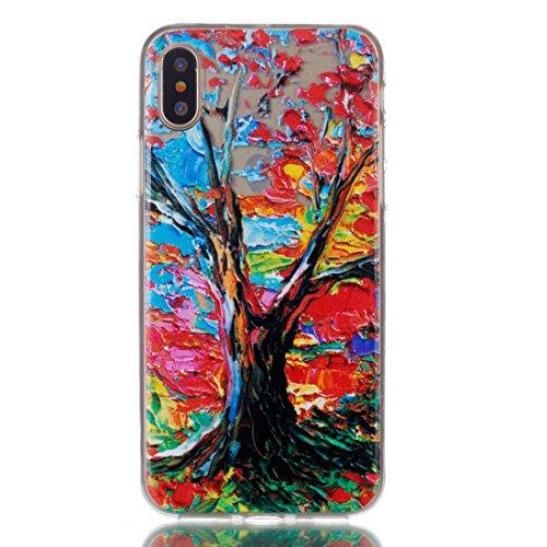 iPhone 8 Custodia, Copertura per iPhone 8, Case Cover protettiva antiurto per silicone per iPhone 8 4.7 , Soft TPU Bumper-Clear (8G-TPU) - fiore Set 8
