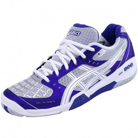Asics GEL BLADE 4 Chaussures de Sport Femme Violet Blanc