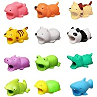 Xatan 12 pcs New Cable Bite for iPhone Cable Cord Cute Animal Phone Accessory Protects Cable Accessory