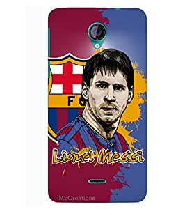 MiiCreations 3D Printed Hard Back Cover/Case for Micromax Unite 2 A106,Matte Finish,Lionel Messi