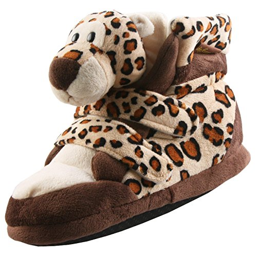 Tierhausschuhe Plüsch Hausschuhe Stiefel Löwe Tiger Damen Kinder Pantoffel Schlappen Anti Rutsch hochwertig Kuschel, TH-LTSK Tiger