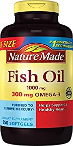 Nature Made Fish Oil 1000 Mg Softgels 250-Count