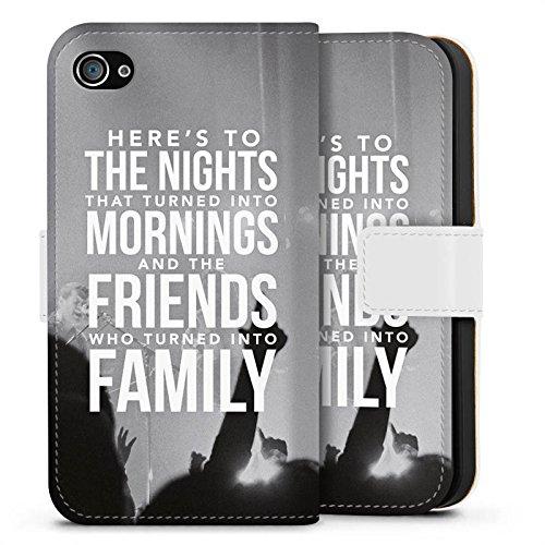 Apple iPhone X Silikon Hülle Case Schutzhülle Freunde Familie Sprüche Sideflip Tasche weiß