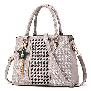 1e8a3d607b Le donne della moda ricamo PU in pelle Tracolla Messenger Crossbody borse/borsa  borse,