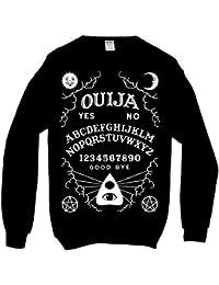 Planche Ouija Sweatshirt Pull Over Gothique Femme Homme Noir