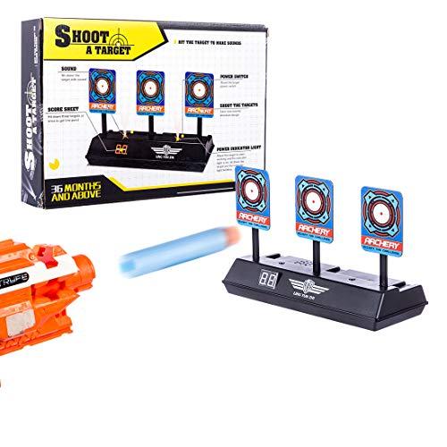 BOROK Zielscheibe Digital Torschütze Elektrisch Scoring Auto-Reset Automatisch Dartscheibe Electric Target für Nerf