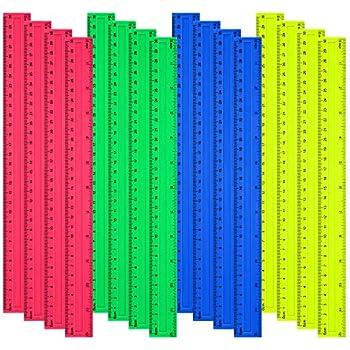 Clair Durable 15 cm Lot de 25 R/ègles en Plastique Incassables Id/éal pour l/école et le bureau Transparents flexible et solide