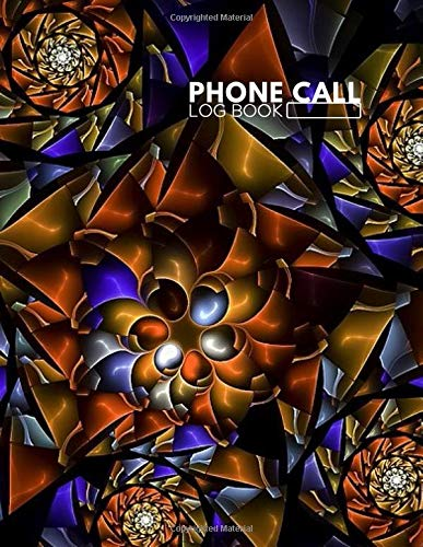 Phone Call Log Book: Follow Up Phonebook, Telephone Memo Recorder Monitoring Organiser, Voicemail Messages Register, For Receptionists, Household, ... with 110 Pages. (Phone Call logs, Band 10) Voicemail-10