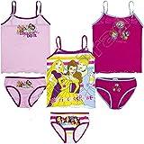 pack de 3 conjuntos niña (camisetas y braguitas) 3 diferentes modelos diseño PRINCESAS (Disney)...