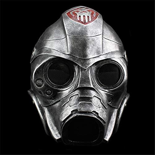 Halloween Maske Harz Maske Terror Strahlenschutz Gasmaske COS Dress Up Kopfbedeckung Maske Kostüm Kostümfest Requisiten Supplies,Silver