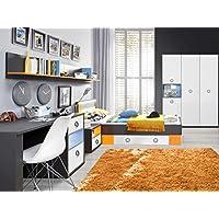 Preisvergleich für Jugendzimmer Colors Komplett verschiedene Ausführungen Kinderzimmer Möbel (Jugendzimmer Colors 5tlg 140er Bett, 4tr Schrank)