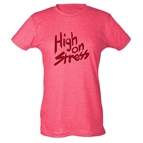 Pop Threads Herren T-Shirt Heather Fuchsia