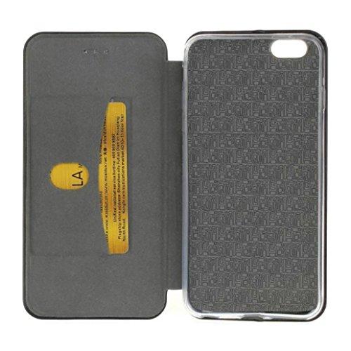 Für Iphone 7 Plus hülle Jamicy® Clamshell Extra dünn Fallschutz Objektivschutz Rutschfest Schutzhülle Leder handyhülle Telefonschale Für Iphone 7 Plus 5.5'' (Schwarz) Silber