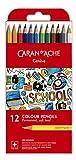 CARAN D'ACHE Crayons de couleur SCHOOL permanent, étui de 12
