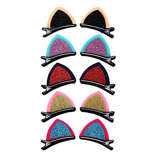 De feuilles CHIC-CHIC-Lot de 10 Mignon Chat Balle Design Nœud Papillon pour Enfant Fille Barrettes Pince À Cheveux Pince Accessoires