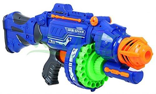 Blaze storm super speed - grande blaster fucile automatico giocattolo - blu