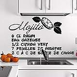 Lvabc Sticker Cuisine Recette Eau Minérale Cuisine Appliqués Vinyle Nouveaux Produits Cuisine Mode Peinture Murale Imperméable À L'Eau Diy 71X42Cm