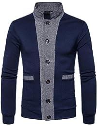 5fa7995bd058 Herren Sweatshirt Pullover FORH Winter Langarm Sweatjacke Pullover Bluse  super Mode Stehkragen Cardigan Mantel Coat Warm