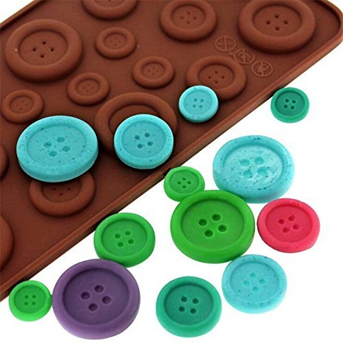 nicebuty niedliche Button Form Silikon Form Pralinenform (Button Mini Eis)