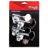 Stagg KG475CR Mécaniques pour Guitare basse 4 x 1 individuelles Chrome