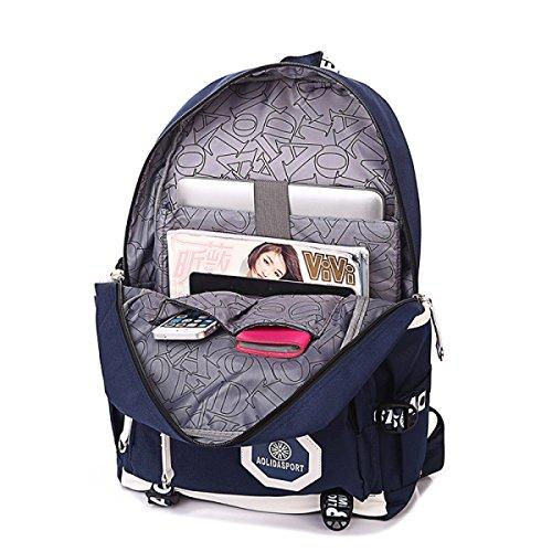 Uomini Borsa A Tracolla Schoolbags Zaino Da Viaggio Di Piacere Impermeabile sapphireblue
