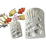 september-europe mousse cake fai da te stampi in silicone bio marine Dimensioni Fish Collection stampo creative 3D Goldfish stampi