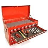 Werkzeugkiste Aufsatz 6 Schubladen S47 rot