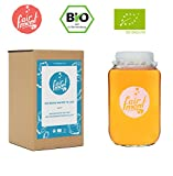 Original Wasser-Kefir Set mit vitalen Bio-Japan-Kristallen und Kefir-Getränk für bis zu 3 L pro Ansatz mit einfacher Anleitung, Rezept und Erfolgsgarantie von Fairment® …