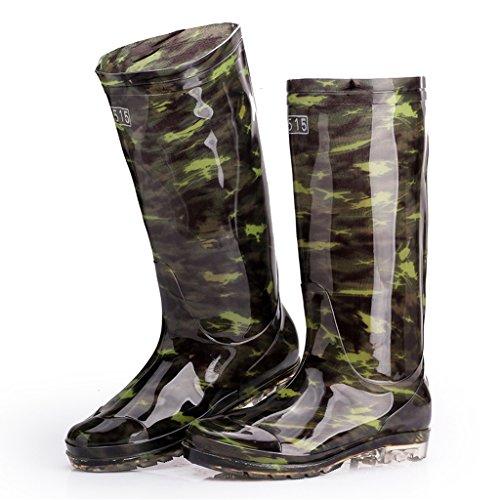 Arbeitsschutzstiefel Männer Hohe Stiefel Wasserdicht Rutschfeste Tragen Regen Stiefel Arbeiten,39