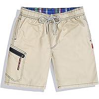 Westtreg Men Summer Clothing Quick Dry Beach Shorts Striped Swimwears Lovers Boardshorts Couples Surf Board Shorts,Khaki,XXL