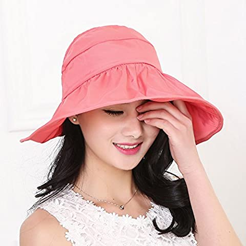 Hat, Summer Outing, Foldable Uv Visor, Outdoor Fisherman Hat,Watermelon Red (Baby In Watermelon Kostüm)