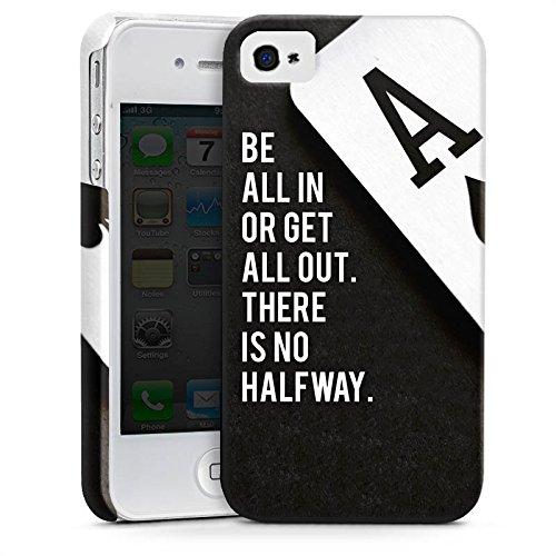 Apple iPhone 7 Plus Hülle Premium Case Cover Poker Spruch Statement Premium Case glänzend