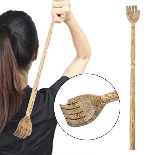Lindern Juckreiz (jiamins Rückenkratzer aus Holz, Schaber hinten Traditionelles und Set Massage Entspannend für lindern Juckreiz)