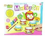 Kinder erstellen Sie Ihre eigene Mini-Tee-Set Porzellantassen Malen