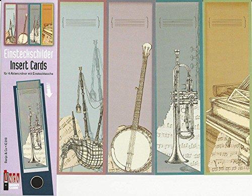 Design Ordner-Rückenschilder zum Einstecken - Motiv Banjo & Co. - für breite Din A4-Ordner, original von File Art