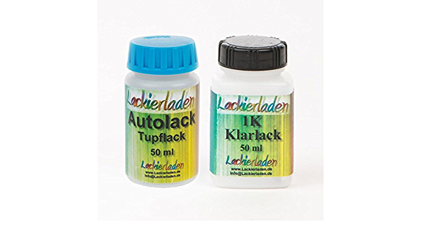Autolack Tupflack Lackstift Farbstift Set 2 X 50 Ml Ral 5024 Pastellblau Pastel Blue Auto