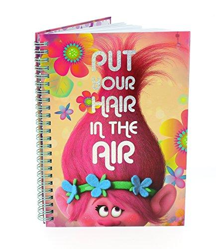 Cuaderno con diseño de la película de Trolls, tamaño A5