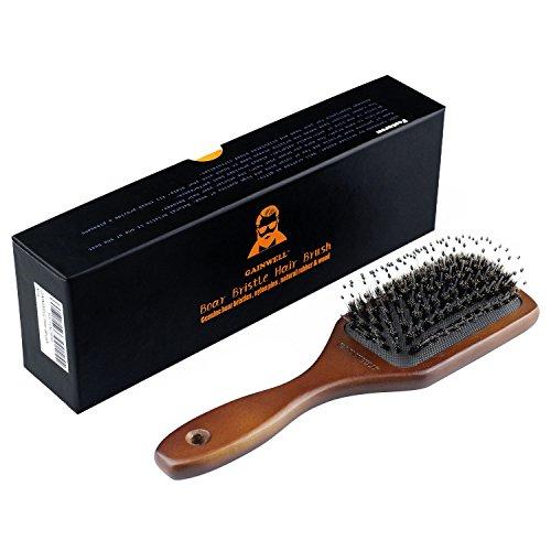 GAINWELL CEPILLO DE PELO DE CERDAS DE JABALÍ– 100% naturales con mango de madera  para todo tipo de cabello