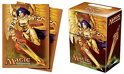 Ultra Pro Akroma, Angel of Wrath Deck Box + 80 Protector Sleeves - Magic: The Gathering