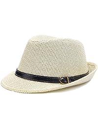 doublebulls hats Cappello di Panama Trilby Uomini Paglia Cappello di Estate  dei Ragazzi 02c48f7bd553