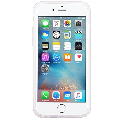 iPhone 6 / iPhone 6S UltraSlim Hülle, Yokata Tpu Weich Transparent Schutzhülle Silikon Gitter Case Rutschfest Cover - Schwarz Klar