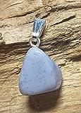 KRIO® - Chalcedon/blauer Achat als Anhänger mit silberfarbener Öse
