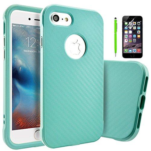 iPhone 6 6S Hülle, Fraelc® iPhone 6 /6S Hybrid Handyhülle Dual-Layer Schutzrahmen Rot TPU Schutzhülle + PC Farbenrahmen Schale für iPhone 6/6S Grün