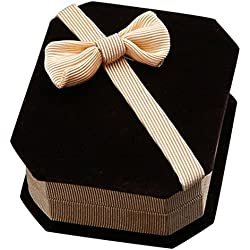 SODIAL(R)Collar Anillo Pendientes Almacenamiento Joyeria Regalo Caja (Champan)